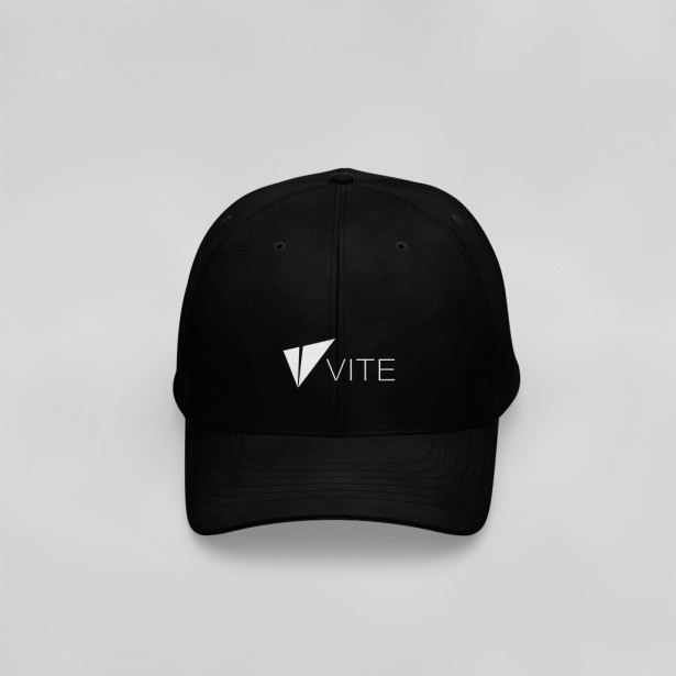 Vite Baseball Cap (Logo + Text, Black)